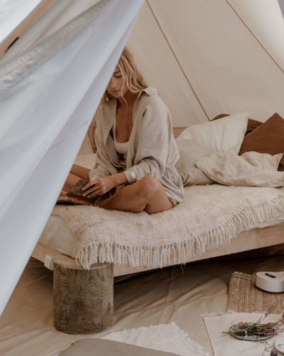 try holidays in a tent
