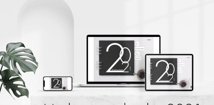 free digital marketing calendar 2021