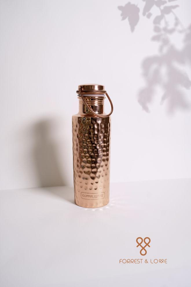 Forrest and Love - Kupfer - eine Wasserflasche