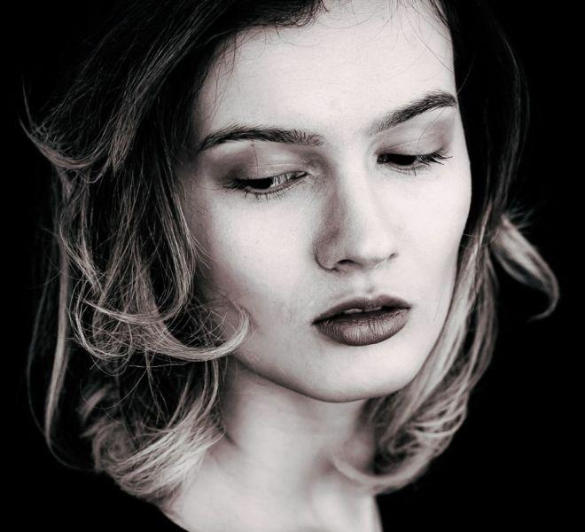 Make-up-Farben für Schwarzweiß-Fotoshootings