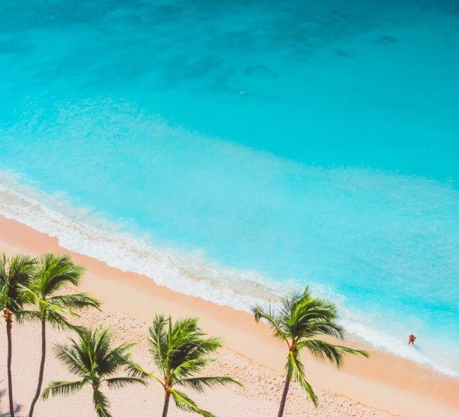 Foto blauer Ozean
