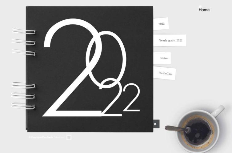 Free Kostenloser digitaler Kalender 2022   Monats-, Wochen- und Tagesplaner, iPad-Planer, Hyperlink-Planer, Goodnotes-Planer, Notability